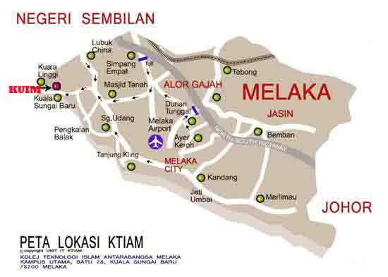 University College of Islam Melaka Map